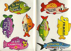 8 Autocollants poissons d'Avril